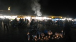 Plaza Yamaa el Fna de noche