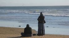 Las atractivas playas de Agadir. Miles de turistas europeos las disfrutan junto a los locales
