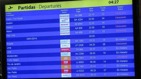 Los vuelos demorados por el temporal sobre Buenos Aires. Caótica salida rumbo a España