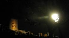 La Alhambra, vista nocturna