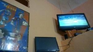 El cuadro de Messi decorando el bar de Chefchauen, Marruecos