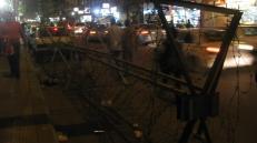 """Los vallados """"antihuelgas"""" en la plaza Tahrir, el centro de las protestas en el marco de la """"primavera árabe""""."""