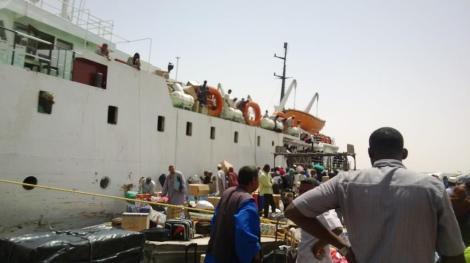 La llegada a Wadi Halfa y la descarga del barco