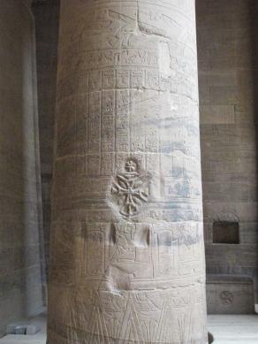 Templo de Philae, vandalizado por los cristianos