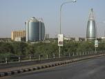 Modernos edificios en las zonas céntricas