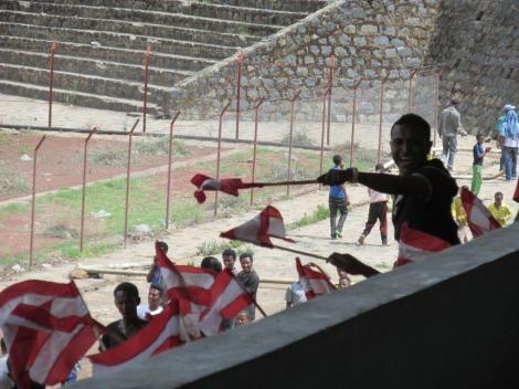 La barra del Fasil de Gondar, Etiopía