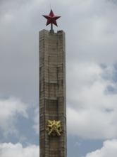 Monumento del gobierno comunista (del 74 al 91) en Addis Ababa, Etiopía