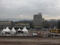 El centro de exposiciones en Addis Ababa, Etiopía