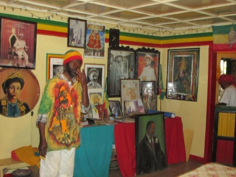 El museo donde se rinde culto a Selassie