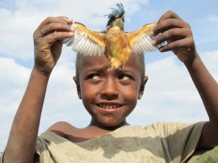 Niños jugando en Hawassa, sur de Etiopía