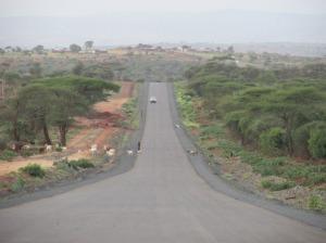 Un tramo de la ruta asfaltada al sur de Etiopía