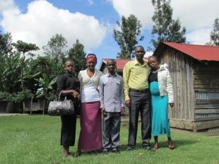 Familia campesina en Nakuru, Kenia