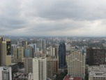 """Nairobi desde la terraza del centro de conferencias """"KCC""""."""
