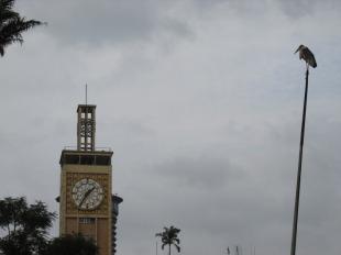 El reloj del edificio del parlamento