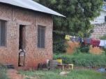 El estilo de las casas en Mtwapa, Kenia