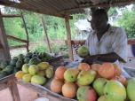 Puesto de venta de mangos en Mtwapa, Kenia