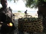 Vendedor de mango en el puerto informal