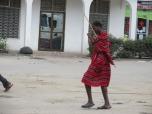 Integrante de la tribu masaai