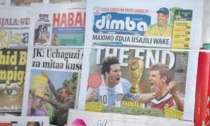 Los diarios tanzanos el día de la final