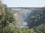 Victoria falls o Cataratas Victoria en la frontera entre Zambia y Zimbabwe