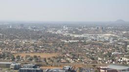 Gaborone desde la montaña Kgale