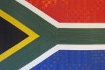 Bandera dentro del estadio mundialista de Durban