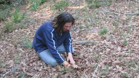 Andrew conectado con la tierra
