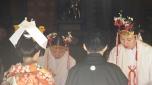 Casamiento al viejo estilo sintoísta (la religión tradicional de Japón antes de la entrada del Budismo)