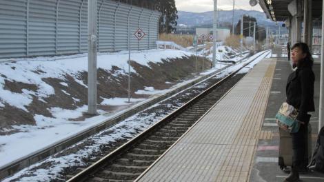 Una estación de una línea local en el norte de Japón
