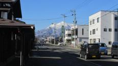 Una calle cualquiera en Hirosaki.