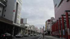 Una calle céntrica en Aomori