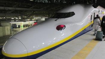 Tren bala a Osaka.