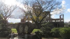 """El edificio del """"City Hall"""" que resistió el ataque con la bomba nuclear."""