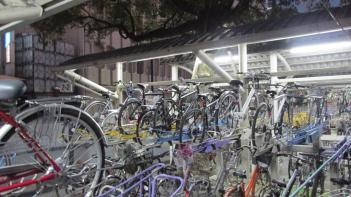 Estacionaminto de bicicletas en Hiroshima.
