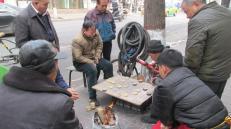 Juegos de mesa en Xi'an, algo muy difundido en todo China.