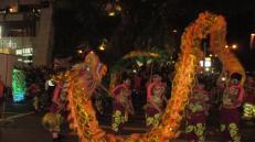 Desfile por el año nuevo chino en Hong Kong