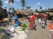 Mercado callejero de Turiani, Tanzania.