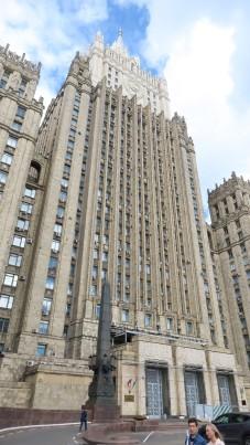 """Una de las """"siete hermanas"""" de Stalin. El Ministerio de Asuntos exteriores."""