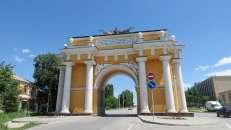 Arco del triunfo en Novocherkask, para la llegada del Zar Alejandro I.