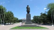 Monumento a Marx en barrio armenio de Rostov (antes había un monumento de la zarina Ekaterina, fundadora de la ciudad)