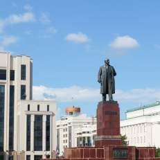 Monumento de Lenin en Kazán, Rusia