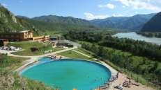 Montañas Altai, residencia de la colonia de verano para niños y centro de entrenamiento de artes marciales.