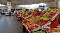 Mercado central en Krasnoyarsk, Siberia