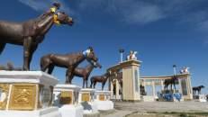 Templo budista-mongol cerca de la ciudad Arvaikheer
