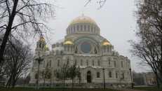 Catedral en Kronstadt, Rusia.