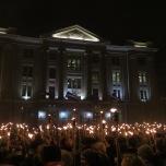 Festejos del día de la independencia en Riga, Letonia. 18 de noviembre de 2017.