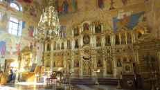 El interior de la moderna catedral ortodoxa