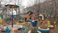 Jardín comunal en Khavarovsk, Rusia