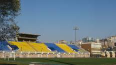 El estadio del Dinamo de Vladivostok, Rusia