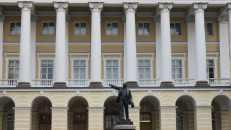 El Palacio Smolny, donde establecieron su sede gubernamental los Bolcheviques tras la Revolución de Octubre